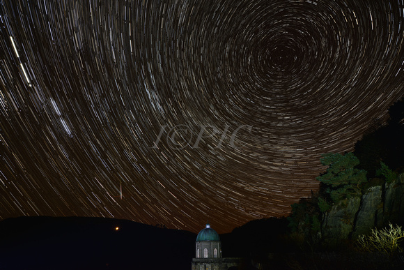Elan Valley Star trails with Meteor.